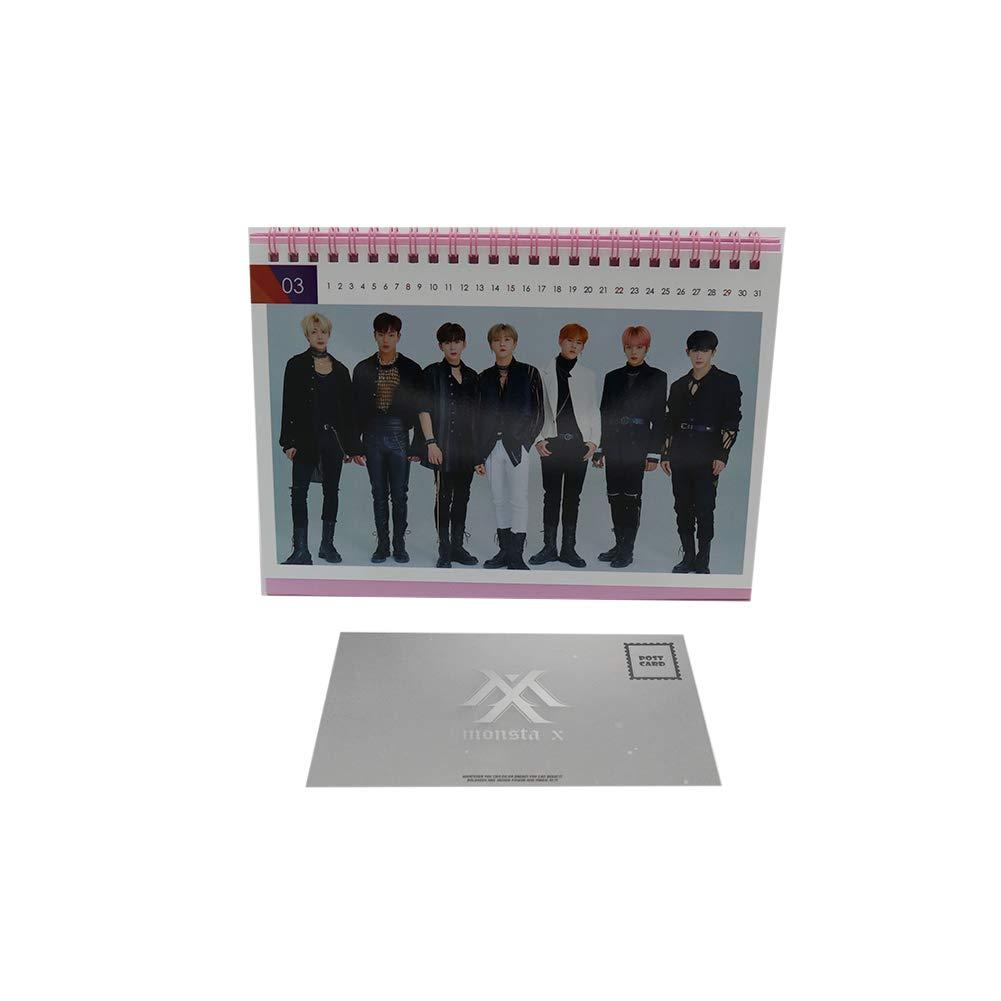 Monsta X Kpop Desk Calendar with Post Cards