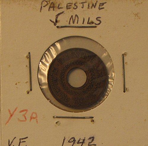 1942 Palestine 5 Mil Very Fine Bronze Coin - Palestine Coin