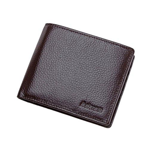 TECOOL RFID Blocking Genuine Leather Bifold Front-Pocket ...