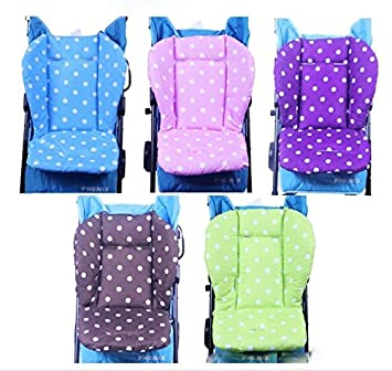 Baby Car Pad Polka Dot yoyo Stroller Cushion Child Cart Seat Cotton Thick Mats (blue) Daozea