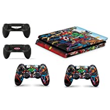 GNG Superhero Skins for PS4 Playstation 4 Slim Console Decal Vinal Sticker + 2 Controller Set