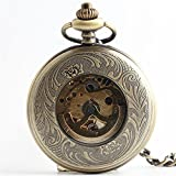 Zxcvlina Classic Smooth Retro Mechanical Pocket Watch Men's and Women's Automatic Pocket Watch with Chain to Student's Gift Suitable for Gift Giving