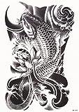 DaLin Temporary Tattoo, 4 Same Sheets (Koi Fish)