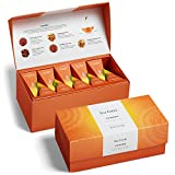 Tea Forte Chakra Presentation Box Organic Tea Sampler, Assorted Variety Tea Box, 20 Handcrafted Pyramid Tea Infusers, Chai Black Tea, Chai Herbal Tea