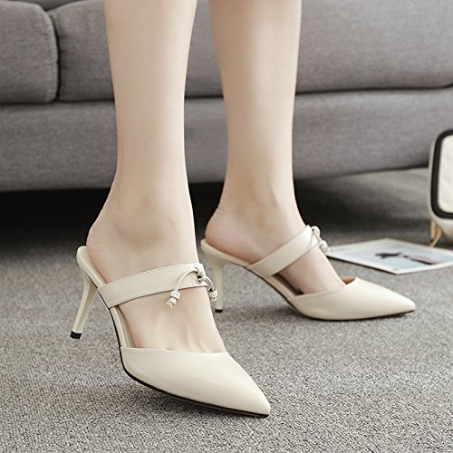 Sandals Heels Sandals Ladies Heel High Court Pumps Heels HUAIHAIZ Shoes High Shoes Party the White Wedding Stylish High M AqP5x7