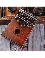 YNuo Protable Klavier 17 Tasten Kalimba Daumenklavier Made by Einplatinen hochwertiges Holz Mahagoni Korpus Musikinstrument