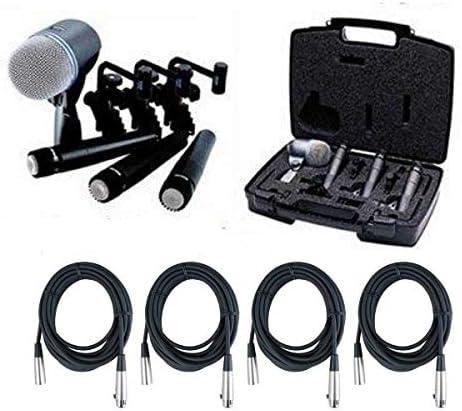 Shure DMK57-52 Drum Microphone Kit + (4) XLR Cables Bundle