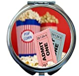 Rikki Knight Movie Stubs and Popcorn Design Round Compact Mirror