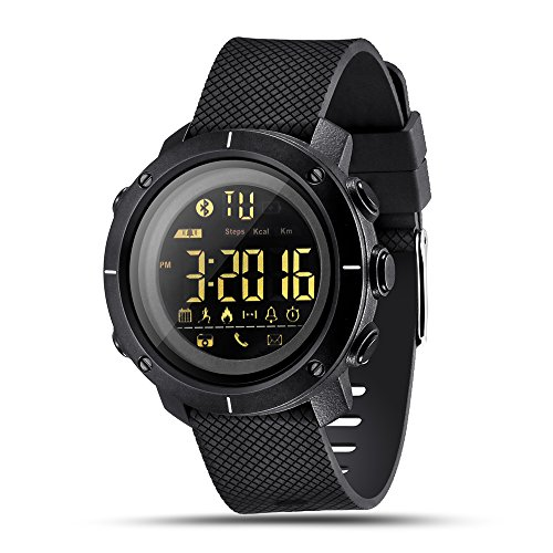 LEMFO LF19 Digital Mens Smart Watch IP68 Waterproof 5ATM Call SMS Notification Sport Smartwatch with LED Backlight
