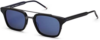 2a8f7643b7ad Sunglasses THOM BROWNE TB 803 A-BLK-BLK BlackRWBBlack Iron w/Dark GreyBlue