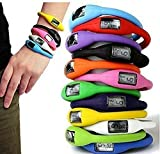KitMax (TM) Wholesale Pack of 12 Pcs Assorted Color Sport LED Digital Silicone Jelly Band Bracelet Wrist Watch (Color May Vary)