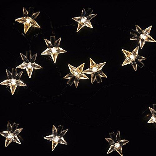 HOUSINGLOVES 20 LED Outdoor String Light Garden Christmas Bell Head Fairy Lamp Solar Energy