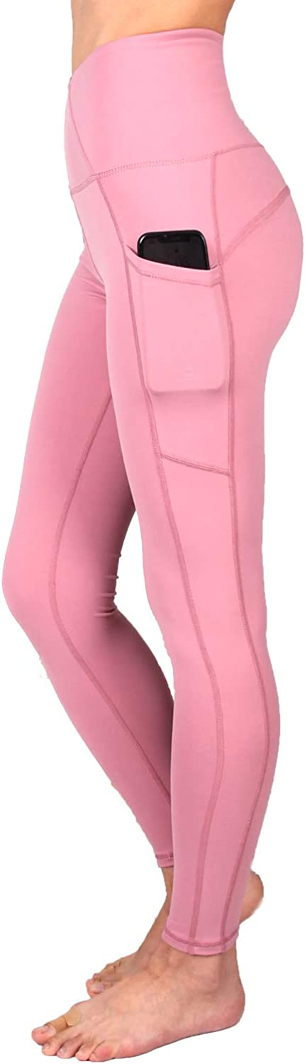 SUPSOO Sports Tights for Women,High Waist Yoga Pants Power Stretch Leggings for Yoga, Running and Kinds of Fitness(Pink)