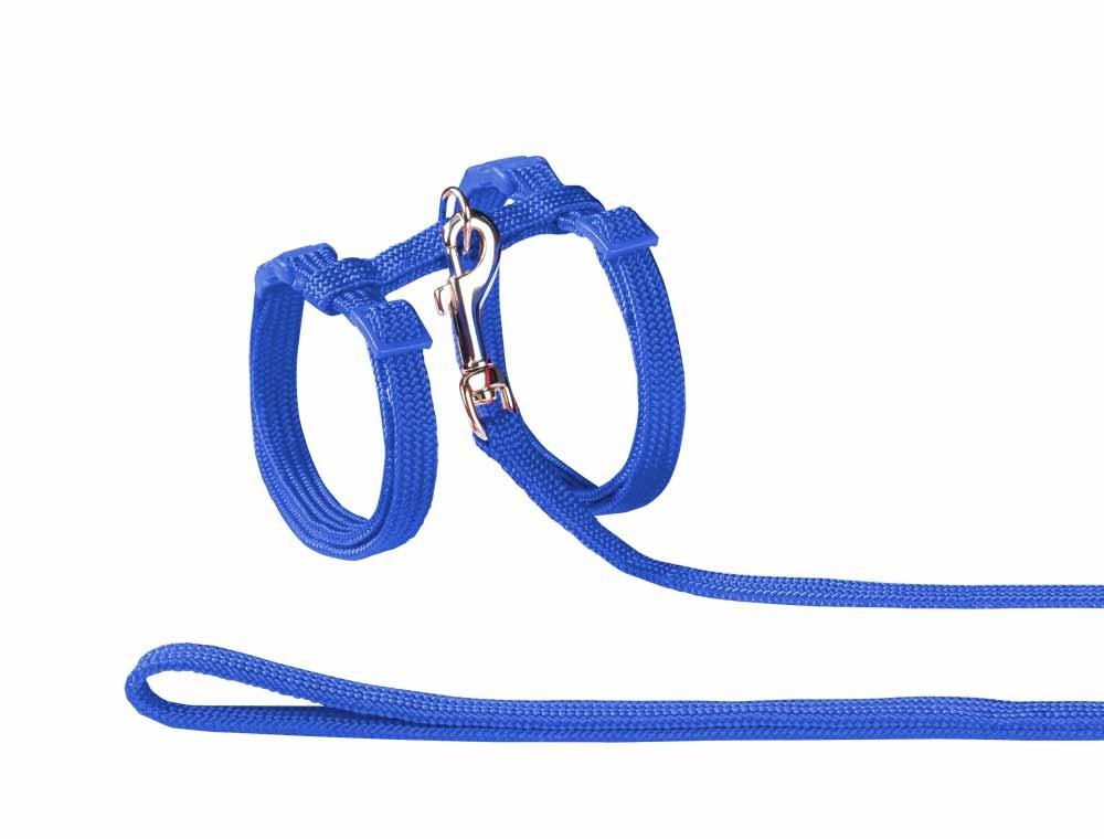 Nobby Set de Laisse/Harnais en Nylon pour Chat Bleu 72218-06
