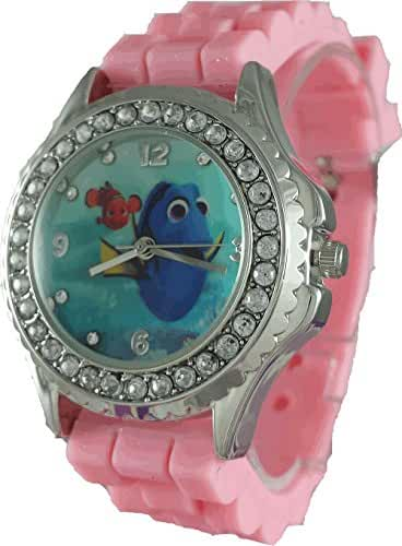 Disney Girl's 'Finding Dory' Analog Pink Watch (FDO3037ST)