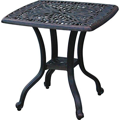 3 Piece Bistro Set Cast Aluminum Patio Furniture Palm Tree Chairs Elisabeth E
