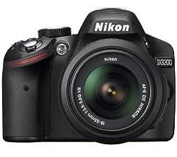 Nikon D3200 24.2 MP CMOS Digital SLR with 18-55mm f/3.5-5.6 AF-S DX VR NIKKOR Zoom Lens (Import) by Nikon