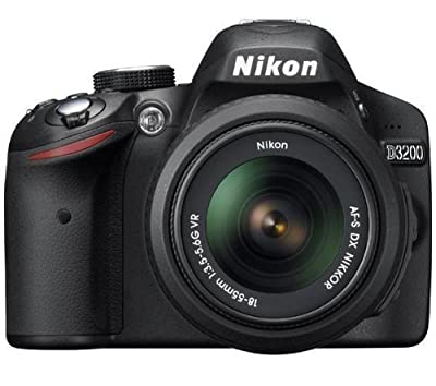 Nikon D3200 24.2 MP CMOS Digital SLR with 18-55mm f/3.5-5.6 AF-S DX VR NIKKOR Zoom Lens (Import) by Nikon