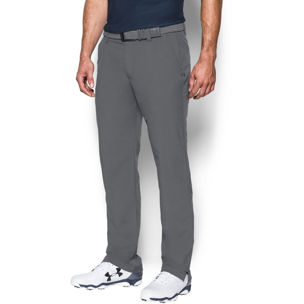 Under Armour Men's Match Play Golf Pants, Graphite /Graphite, 38/30 by Under Armour