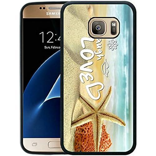 S7 Case,Galaxy S7 Case,Starfish Sea Beach Samsung Galaxy S7 Case [TPU Black] Sales