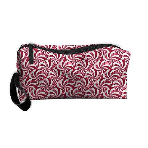 Dulces de menta de Navidad báscula mujer ¡̄ s de viaje bolsas de cosméticos pequeña bolsa de embrague de maquillaje...