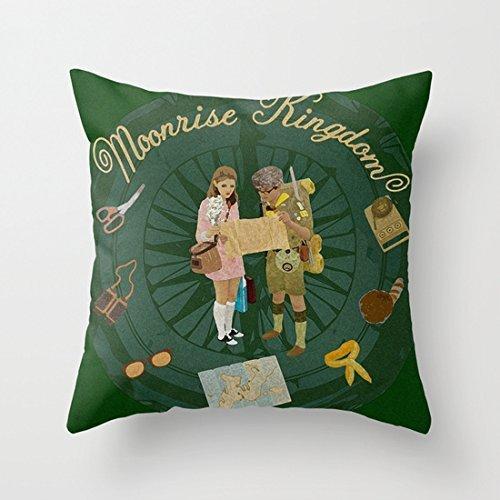 KarilShop Moonrise Kingdom Green Linen Throw Pillow Case Cushion Cover Home Sofa Decorative 18 X 18 Inch.