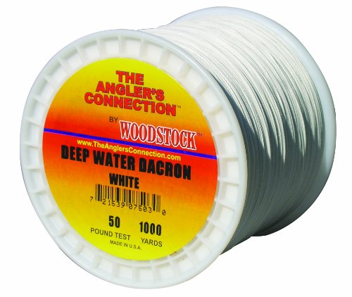 Woodstock Deep Water Dacron Fishing Line, 1000 Yards/30# Test, White, Outdoor Stuffs