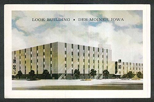 Look Building Des Moines IA postcard - Looks 60s