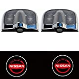 SunShine 2 X 6th Gen Car Door Shadow Laser Projector Logo LED Light for NISSAN TIIDA LIVINA QASHQAI X-trail Altima SUNNY SYLPHY Versa Sentra Rogue GT-R (Red)