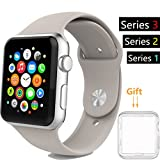 38mm Watch Band, Acytime Durable Soft Silicone Replacement iWatch Band Sport Style Wrist Strap for Apple Watch Band Series 3 Series 2 Series 1 Sport, Edition 38mm (38mm-Pebble)