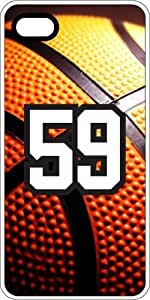 Basketball Sports Fan Player Number 57 White Plastic Decorative iPhone 6 PLUS Case