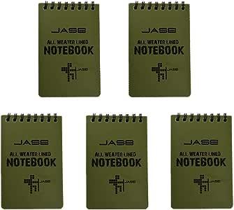 Stonges 5 Pack de cuadernos impermeables para todo tipo de clima ...
