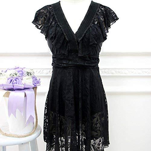 À Montré Angle Jupe De Mode Bain Unique Noir Style Fuweiencore Taille Maillot Une coloré Pièce Sau Lei Montré Xl La Plat Femelle Comme xHpq7w07Y
