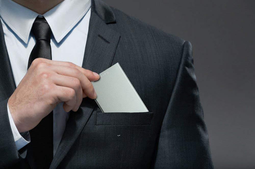 de Visite Card Holder Gris Portefeuille Homme Femme en Metal Anti Lecteur de Carte Cr/édit Porte-Carte Bancaire Voyage Card Genie Porte Carte RFID Cadeau Anniversaire Protection RFID