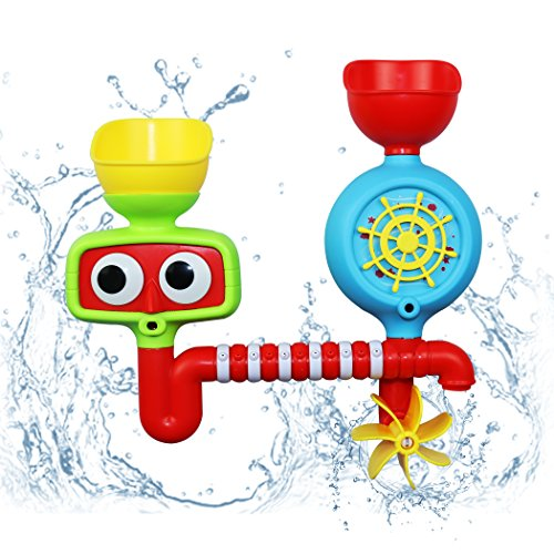Fondear Colorful Bath Toy / Cute Water Spray Toy / Submarine Spray Station Toy for Toddlers - BPA Free and No Battery Needed (Steamly)