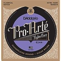 Cuerdas de guitarra clásica D'Addario EJ44 Pro-Arte Nylon, tensión extra dura - Bajos con núcleo de nylon, agudos seleccionados con láser - Ofrece un balance de volumen y una resistencia cómoda