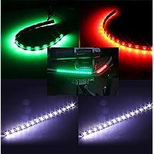 Boat LED Navigation Lights Kit (STERN & BOW) Red & Green & White Navigation Waterproof LED Strips for Bass, Pontoon, Ski, Canoes, Kayaks, Sun Tracker, Ranger, Triton, wave runner, boats Underwater