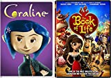 Button Animated Fun with Henry Selik's Coraline & Jorge R. Gutierrez's The Book of Life 2-DVD Double Feature Cool Movie Bundle