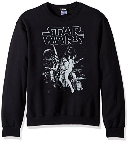 Wars Poster Star Official - Star Wars Unisex-Adult's Men's Official 'Poster' Graphic Tee, Black//Long Sleeve, xx-Large