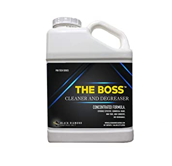 Concrete Stain Remover >> Black Diamond Coatings Inc 1 Gallon The Boss Cleaner And Degreaser Concrete Masonry Natural Stone And Wood Stain Remover