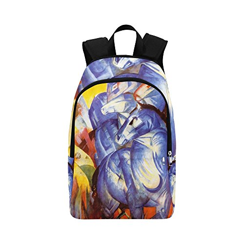 686aee9a1a70 InterestPrint The Tower Of The Blue Horses Casual Shoulders Backpack Travel  Bag School Backpacks