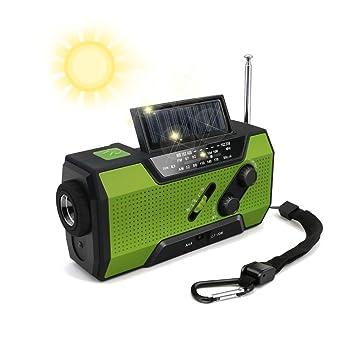 H&T Manivela Solar Radio, FM/Am SW Receptor Dínamo De Radio con ...