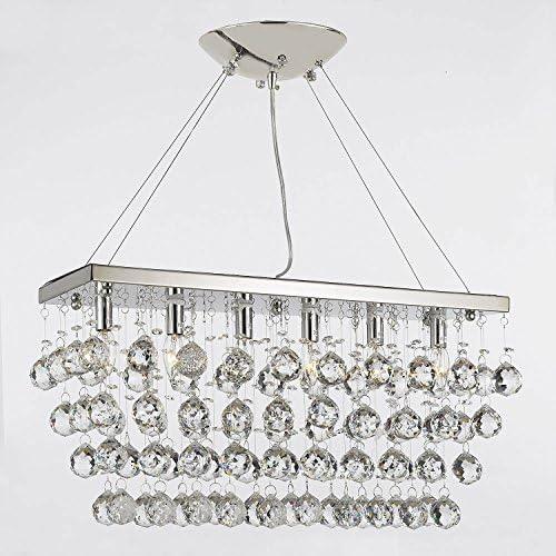 Chandelier Light w Crystal Modern Contemporary Rain Drop Chandeliers Linear Pendant