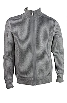 Calvin Klein Mens Full Zip Sweater