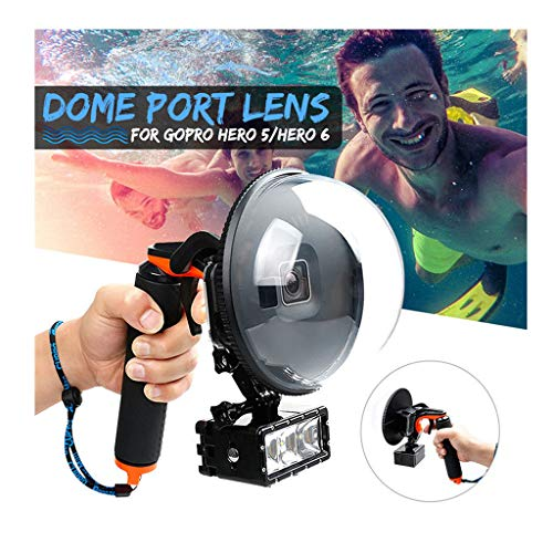 Miklan Port Camera Lens Transparent Cover for GoPro Hero 7/Hero 6/Hero 5 Version, with Waterproof Housing Case Handheld Camera Case Cover, Underwater Diving Photography GoPro Accessories