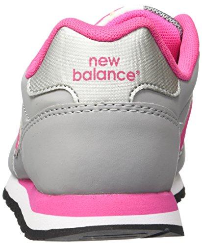 New Balance - Zapatillas para niños Gris / Rosa