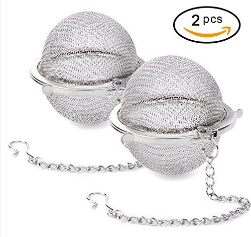 Yinggesi 4335468603 2 Pack 2PCS Premium Stainless Steel Ball Mesh, Infuser Strainer Filters Tea Interval Diffuser for Daily Life, Large, A