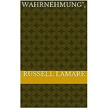 "Wahrnehmung"",  (German Edition)"