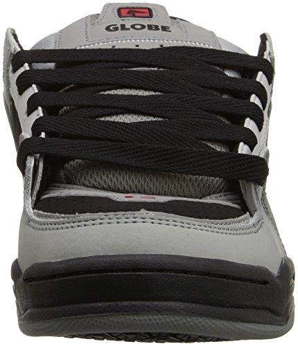 Globe Fusion - Zapatillas de skateboarding para hombre negro negro 12 M US Men gris/negro/rojo
