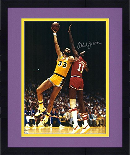 3b405c0911b Framed Kareem Abdul-Jabbar Los Angeles Lakers Autographed 16